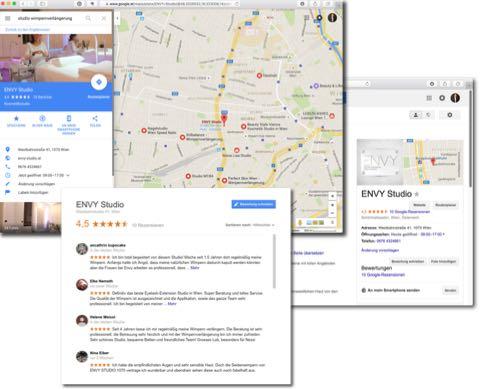 Kunden können Ihren Betrieb mit Google My Business leicht finden und auch Bewertungen abgeben.