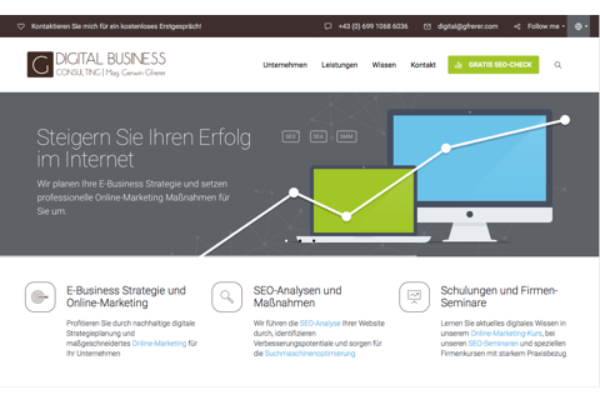 Am 07. November 2016 erfolgte der Launch der Website gfrerer.com.